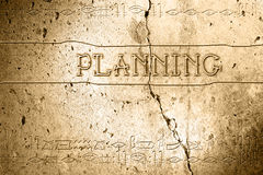 Planning. Word planning on wall with egyptian alphabet made in 2d software Royalty Free Stock Photos