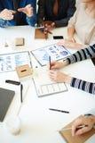 Planning work at meeting Stock Photos