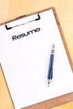 Planning Your Job Resume Stock Image