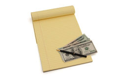 Planning your money situation Royalty Free Stock Photo