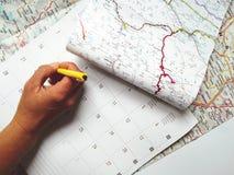 Planningsvakanties, vakantie, reis Royalty-vrije Stock Foto's