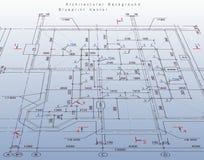Plano abstrato da casa da arquitetura. Vetor ilustração do vetor