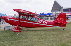 Plano Aerobatic vermelho de Austrália Fotografia de Stock