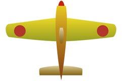 Plano amarillo ilustración del vector