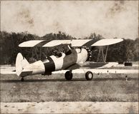 Plano antigo de Boeing Stearman Imagem de Stock