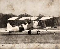 Plano antiguo de Boeing Stearman Imagen de archivo