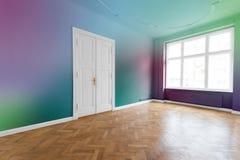 Plano/apartamento con las paredes coloreadas Fotografía de archivo libre de regalías