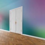 Plano/apartamento con las paredes coloreadas Foto de archivo