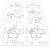 Plano arquitetónico detalhado Imagens de Stock Royalty Free