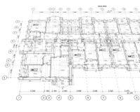 Plano arquitetónico detalhado Imagem de Stock Royalty Free