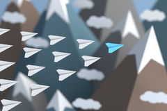 Plano azul Imagem de Stock Royalty Free