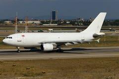 Plano branco intitulado de Airbus Imagem de Stock
