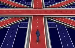 Plano britânico ilustração stock