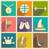 Plano con deportes del concepto y de la aplicación móvil de la sombra Foto de archivo libre de regalías