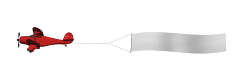 Plano con la bandera en blanco Fotografía de archivo libre de regalías