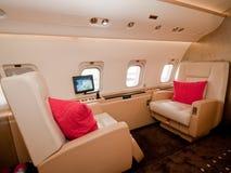 Plano confidencial do negócio em Singapore Airshow 2010 Foto de Stock