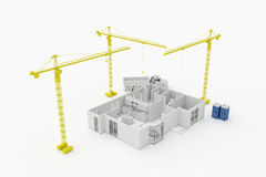 Plano da arquitetura de uma casa residencial Foto de Stock Royalty Free