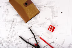 Plano da casa fotografia de stock