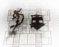 Plano da construção fotografia de stock