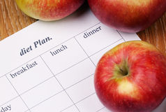 Plano da dieta. Foto de Stock Royalty Free