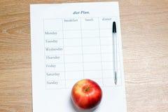 Plano da dieta. Fotos de Stock