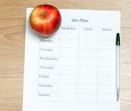 Plano da dieta Imagem de Stock