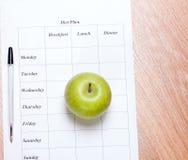 Plano da dieta. imagem de stock