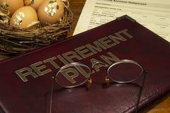Plano da economia de aposentadoria Fotos de Stock