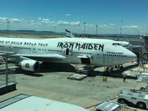 Plano da excursão de Iron Maiden imagens de stock royalty free