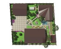 Plano da terra do jardim Fotografia de Stock