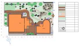 Plano da terra do jardim Imagens de Stock