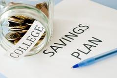 Plano das economias da faculdade Foto de Stock Royalty Free