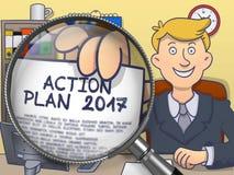 Plano de ação 2017 através da lente Projeto da garatuja Imagens de Stock