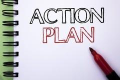 Plano de ação do texto da escrita Operação da estratégia do significado do conceito Fotos de Stock