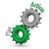 Plano de acção das engrenagens Imagem de Stock