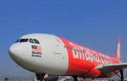Plano de Air Asia Foto de Stock Royalty Free