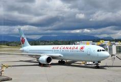 Plano de Air Canada Foto de archivo