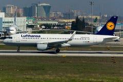 Plano de Airbus A320 Fotografia de Stock