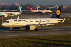 Plano de Airbus A320 Imagens de Stock