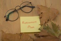 Plano de aposentação Imagens de Stock