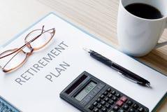 Plano de aposentação imagem de stock royalty free