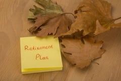 Plano de aposentação Foto de Stock