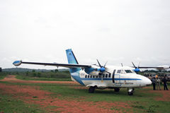Plano de aterragem foto de stock