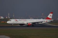 Plano de Austrian Airlines, libr? myAustrian fotografia de stock