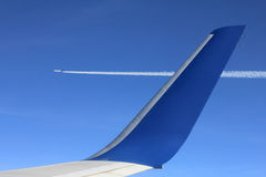 Plano de avião a avião da vista Foto de Stock