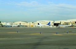2017, plano de carga aérea o 11 de dezembro, de Telavive, Israel - de Rean - aeroporto da pista de decolagem do aeroporto de Ben- Foto de Stock Royalty Free