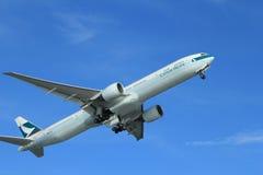 Plano de Cathay Pacific Foto de Stock Royalty Free