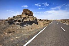 Plano De El Mojon, Lanzarote Fotografia Stock