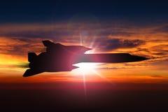 Plano de espião do melro SR-71 Imagem de Stock