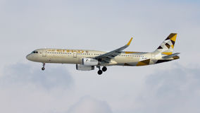 Plano de Etihad Airways Airbus A321 fotos de stock